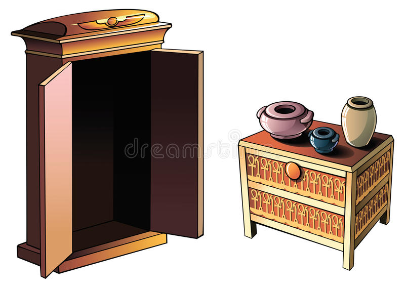 Egyptian furniture vector illustration