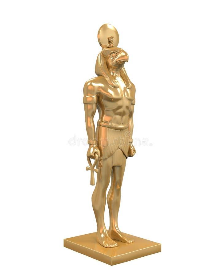 Egyptian God Horus Statue stock illustration