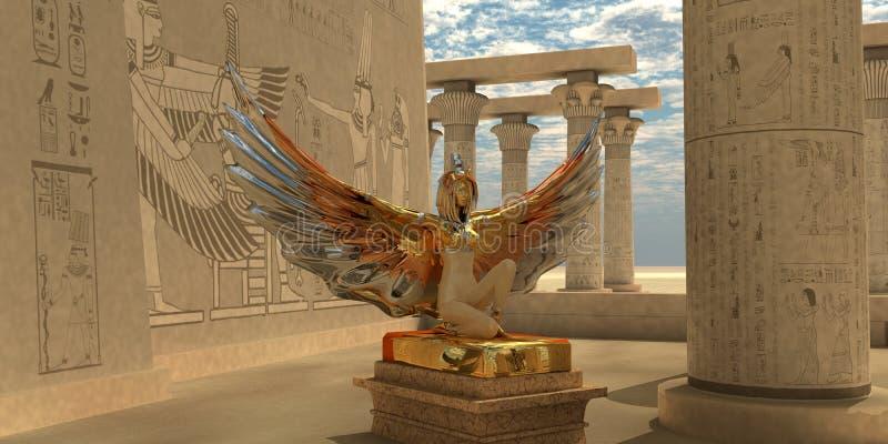 Egyptian God Isis stock illustration