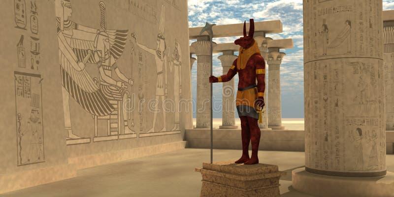 Egyptian God Seth royalty free illustration
