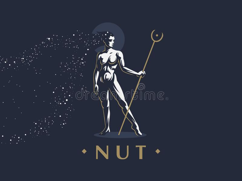 Egyptian goddess Nut. royalty free illustration