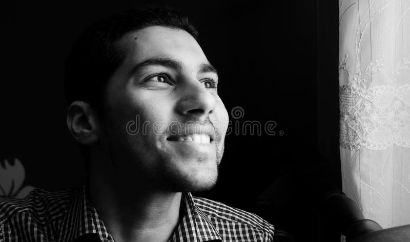 happy egyptian guy stock image