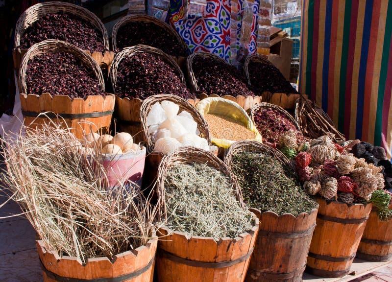 Egyptian Herb Market stock photo