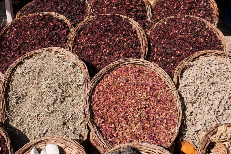 Egyptian Herb Market stock photos