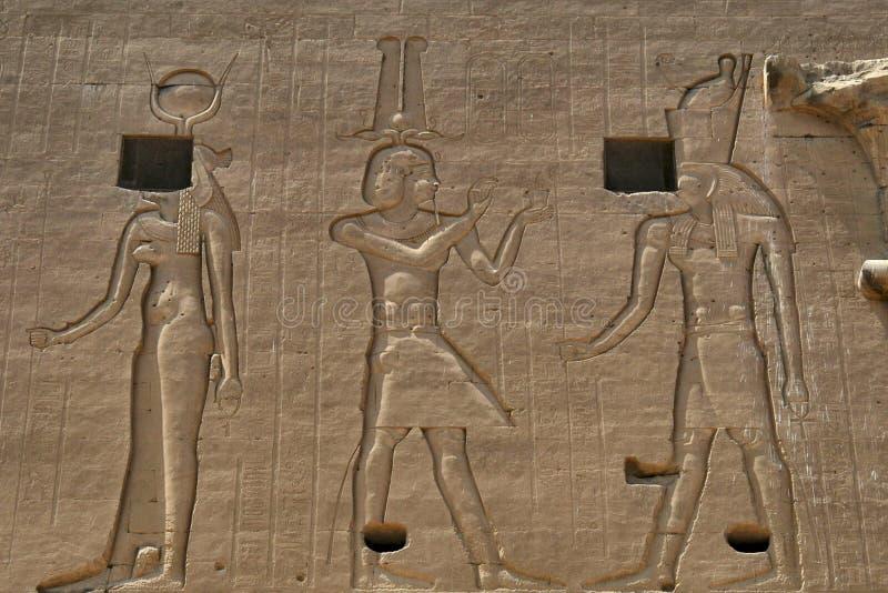 Egyptian hieroglyphics stock images