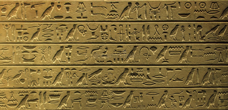 Egyptian hieroglyphics royalty free stock photo