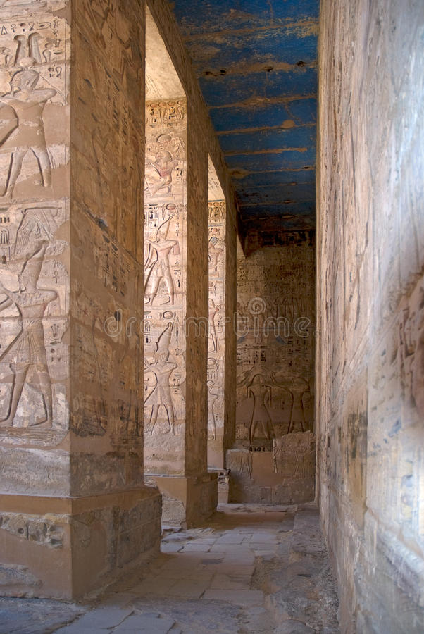 Download Egyptian Hieroglyphics On A Temple Wall Stock Photo - Image: 25782262