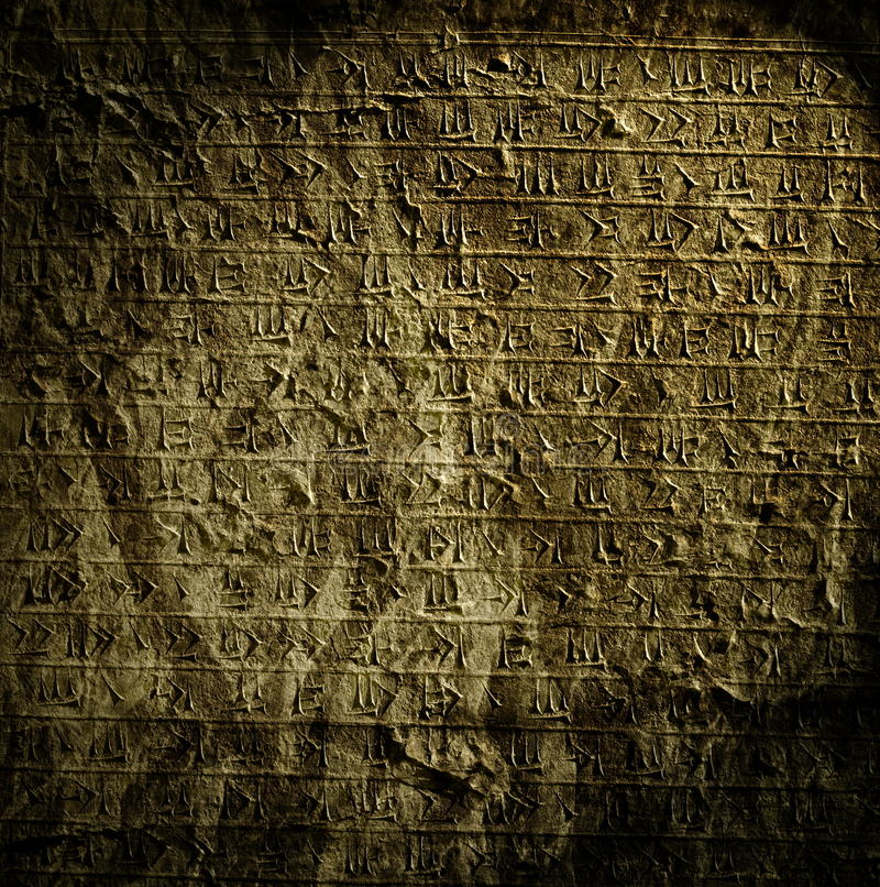 Download Egyptian hieroglyphs. stock illustration. Illustration of antique - 12930240