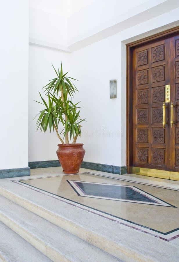 Egyptian Hotel Entrance Stock Photo