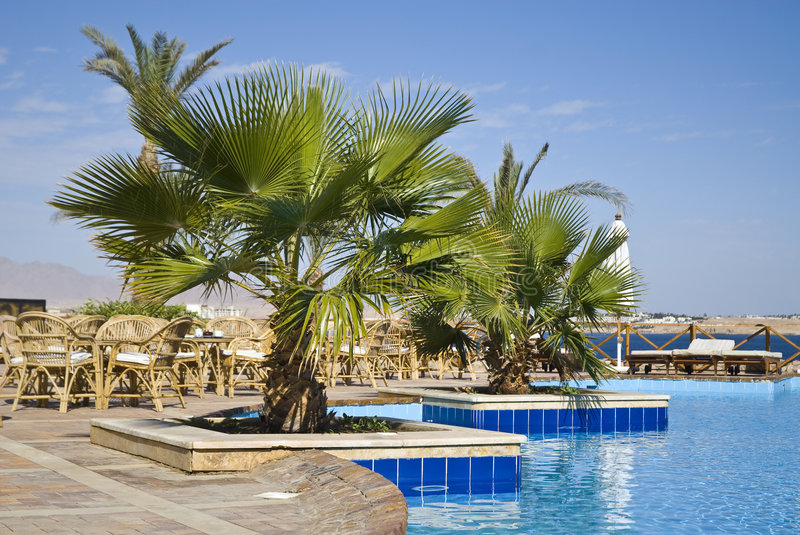Download Egyptian Hotel Poolside Stock Images - Image: 7909454
