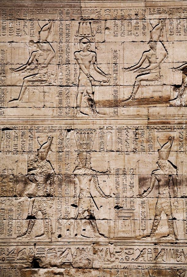 Download Egyptian Images And Hieroglyphs Engraved On Stone Stock Image - Image of religion, mythology: 18515499