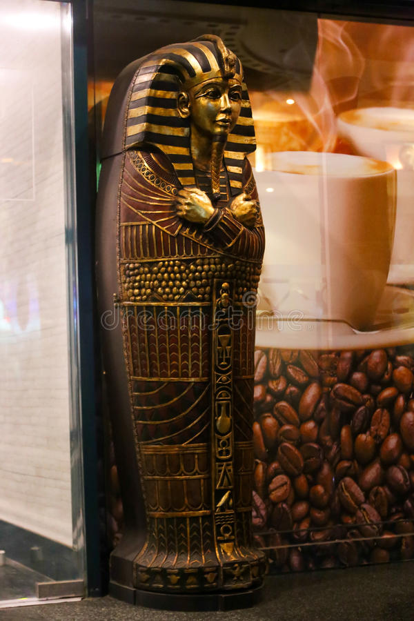 Egyptian king Tut Coffin royalty free stock image