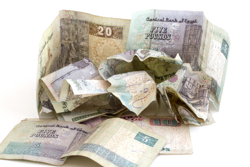 Egyptian Money stock photo