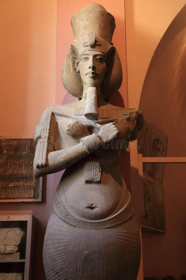 Egyptian museum. Colossus of Amenhotep IV, the exhibitions in the Egyptian museum in Cairo, Egypt stock photo