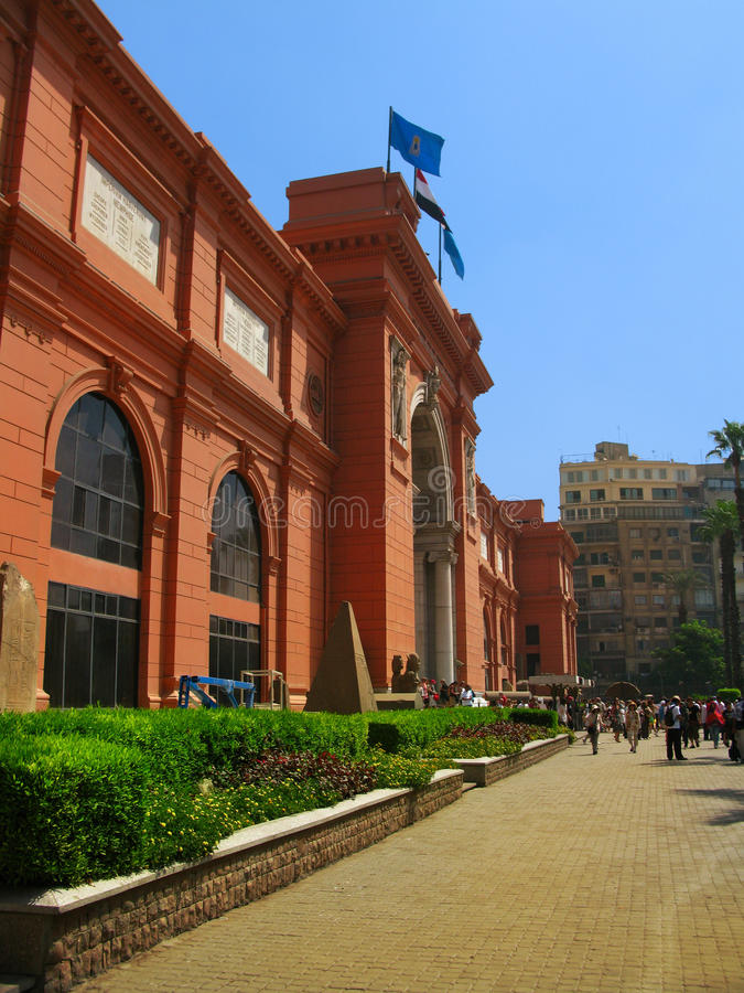 Egyptian Museum in Tahrir Sq, Cairo. Egyptian Museum in front of Tahrir Square, in Cairo, Egypt stock photography