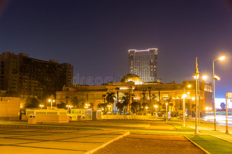 The Egyptian Museum at Tahrir Square in Cairo. On January 1, 2015 royalty free stock photo