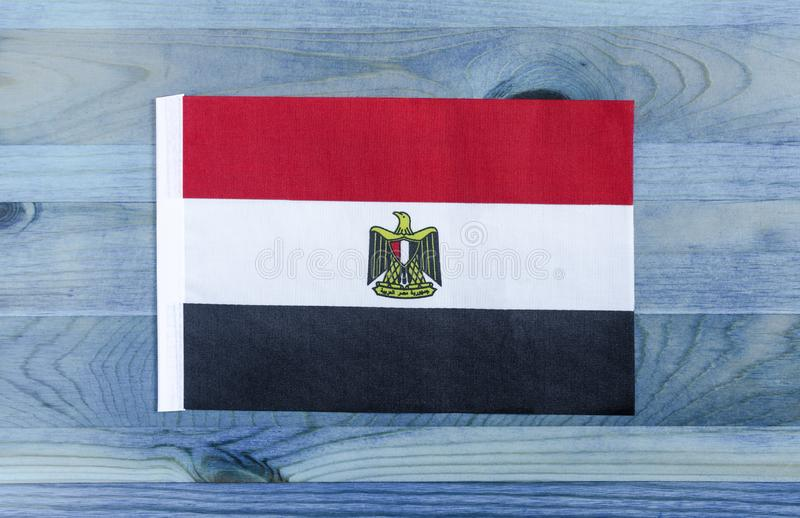 Egyptian national flag closeup stock photo