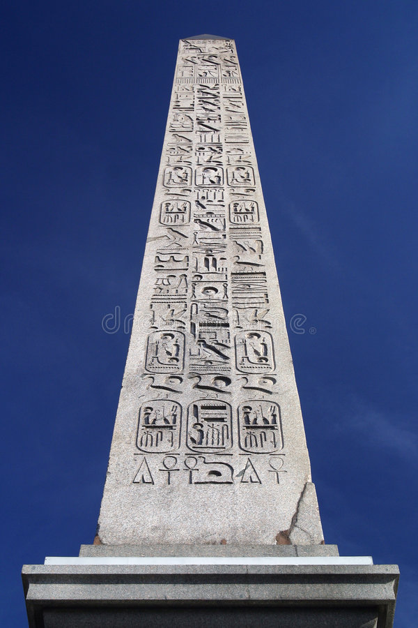 Egyptian Obelisk in Paris royalty free stock photography