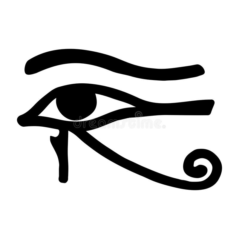 Egyptian Old Drawing Stock Vector Illustration Of Horus 90376270