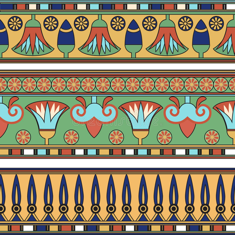 Egyptian ornament. Сollection. royalty free illustration