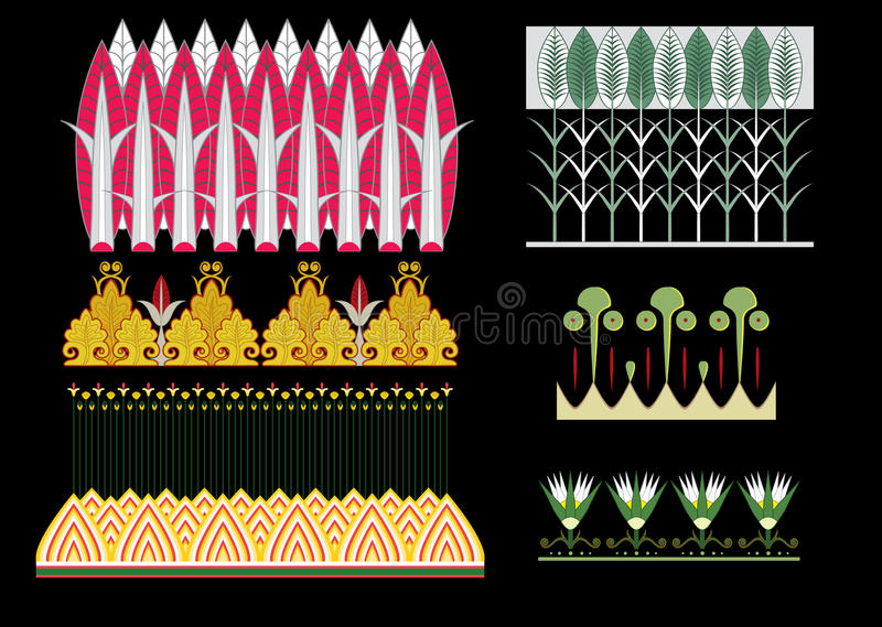 Download Egyptian ornament stock vector. Image of culture, floral - 23402699