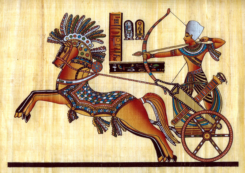 Egyptian papyrus. Egyptian natural papyrus with paint