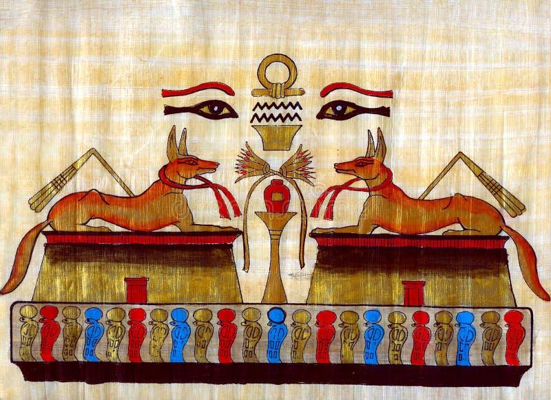 Egyptian papyrus stock photo