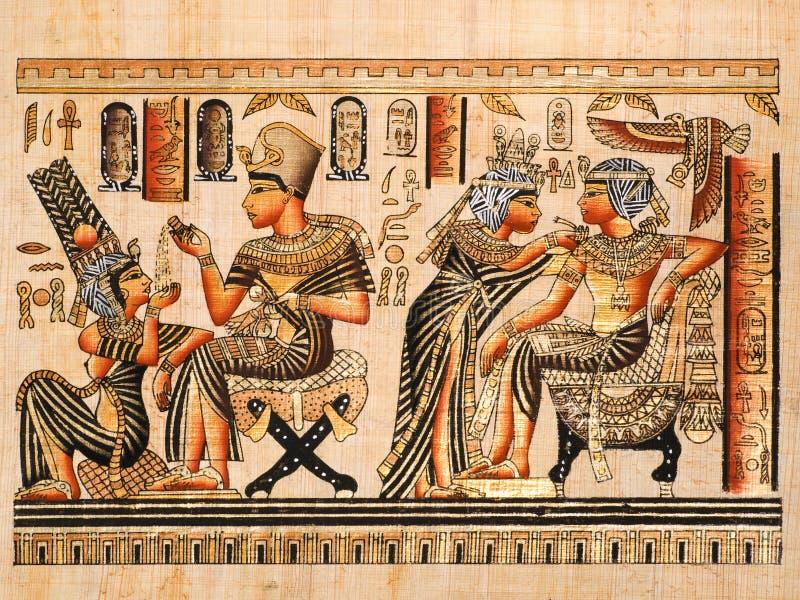 Egyptian papyrus royalty free stock image