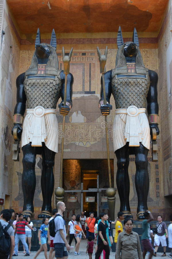 Egyptian pharaohs. Universal Studios Singapore royalty free stock photo