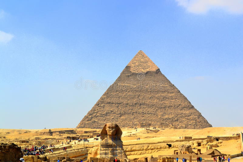 Egyptian piramide. Egiptian piramide in cairo desert stock photos