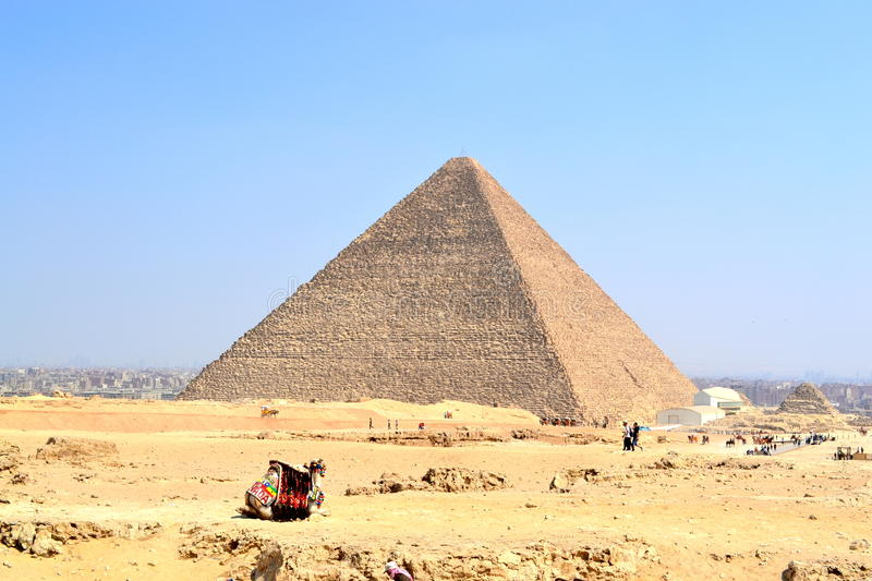Egyptian piramide. Egiptian piramide in cairo desert royalty free stock image