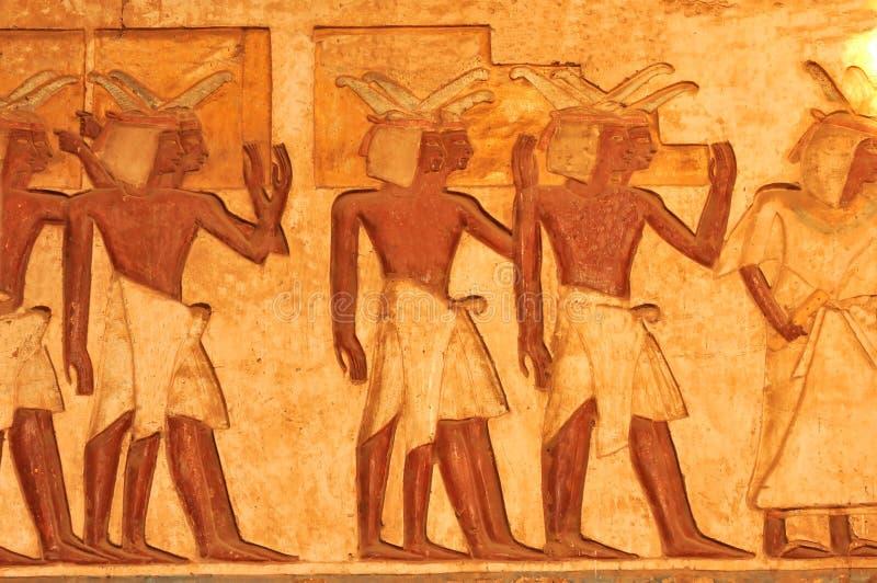 Egyptian porters royalty free stock photos