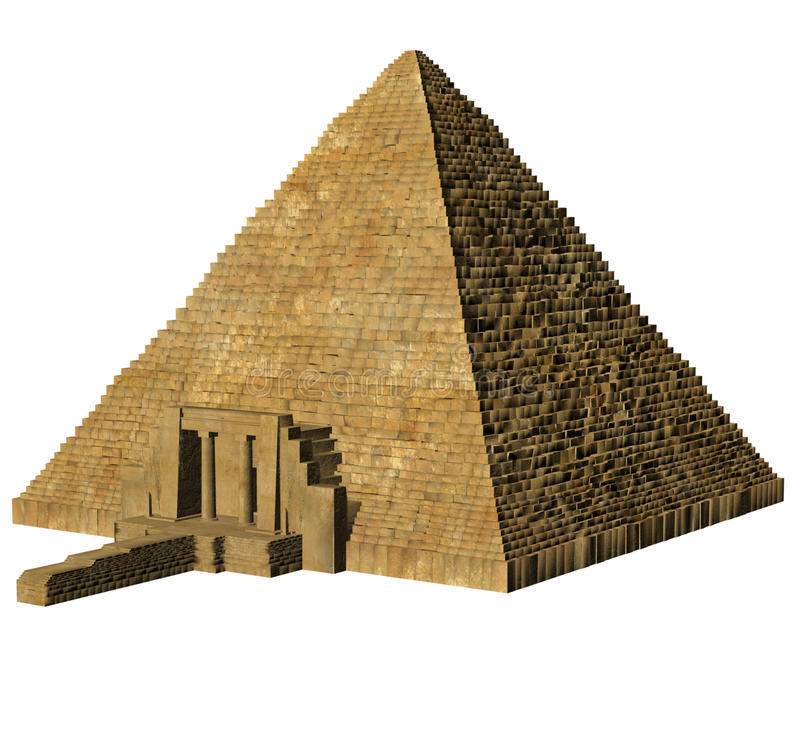 Egyptian pyramid. 3D render of an Egyptian pyramid