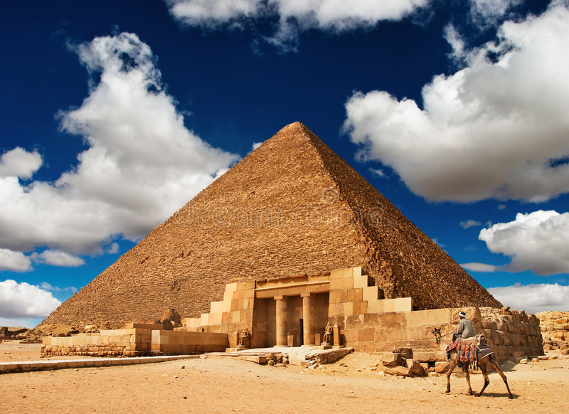 Download Egyptian pyramid stock image. Image of great, africa, egyptian - 5482227