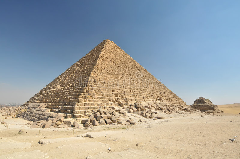 Egyptian pyramid stock photography