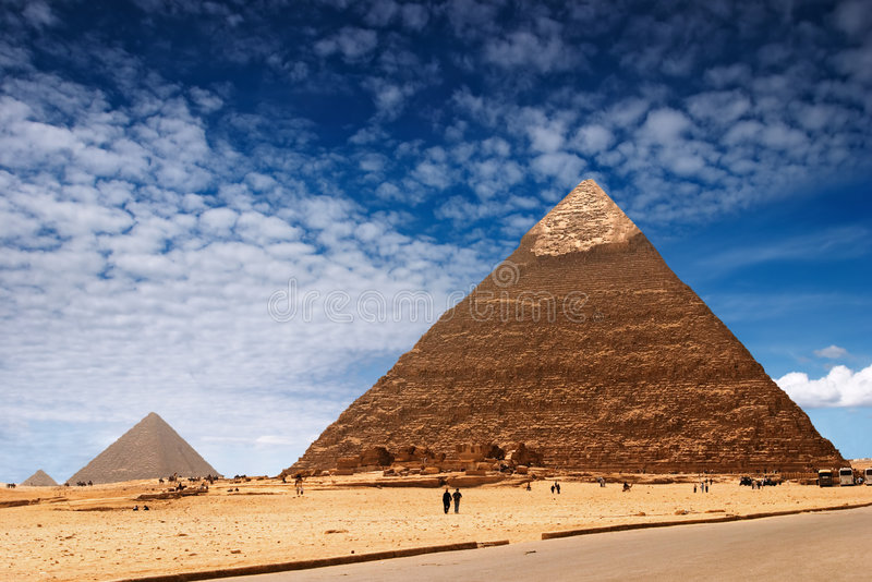 Egyptian pyramids. Ancient egyptian pyramids in Giza