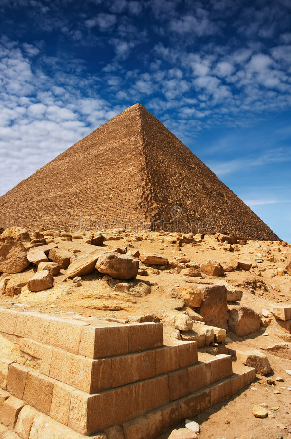 Egyptian pyramids. Ancient egyptian pyramids in Giza stock photography