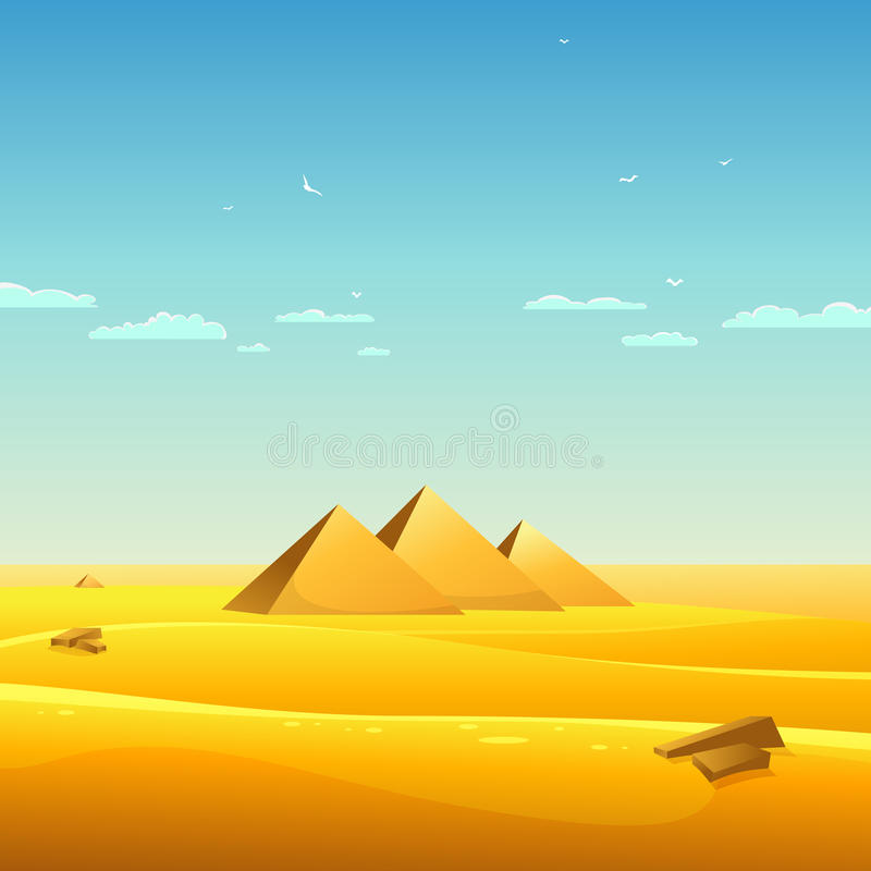 Egyptian Pyramids Stock Vector