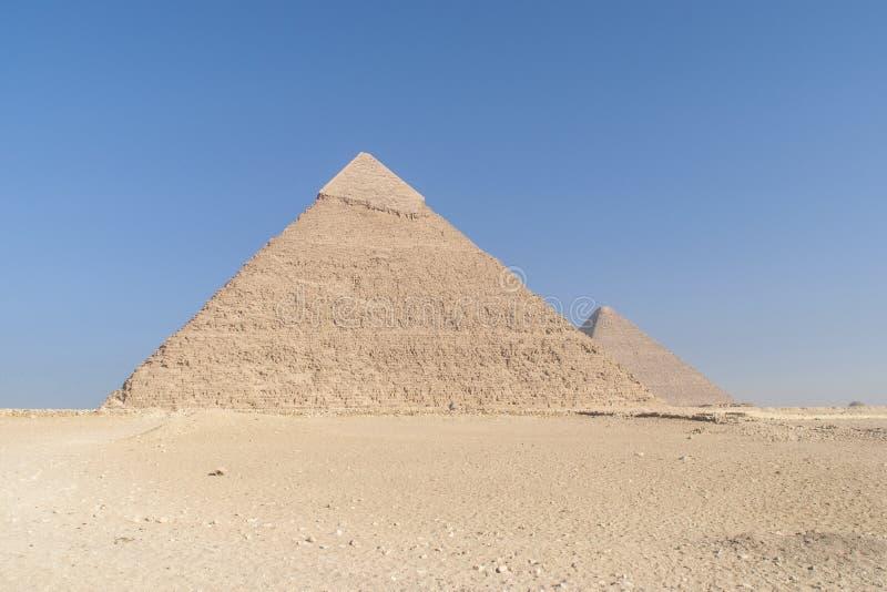 The Egyptian pyramids stock image