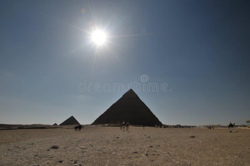Egyptian Pyramids Scenic Royalty Free Stock Photos