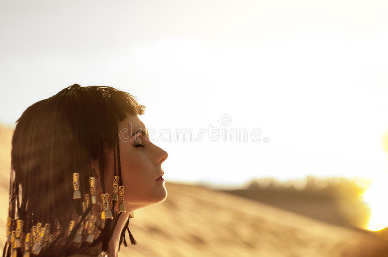 Download Egyptian Queen stock image. Image of dress, woman, actress - 26324071
