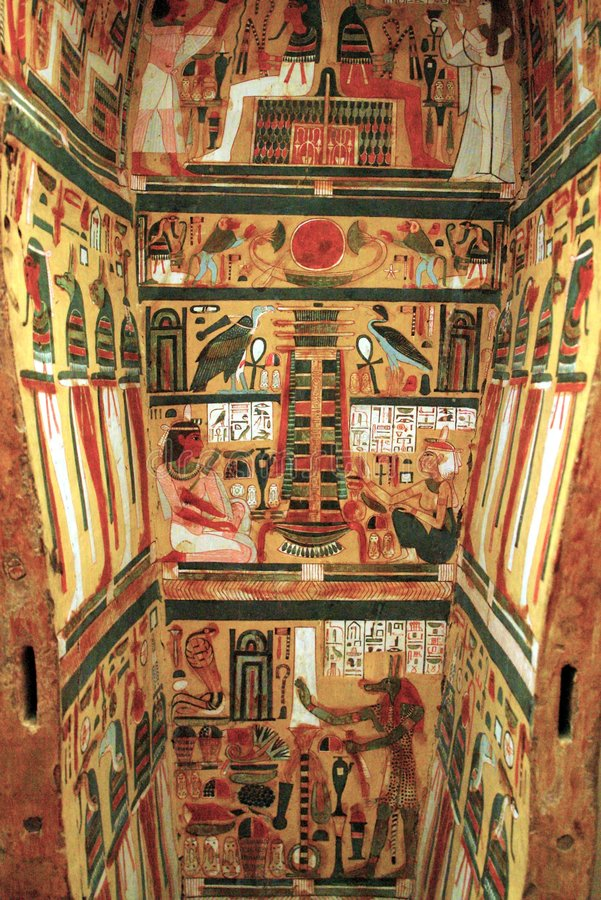 Download Egyptian Sarcophagus stock image. Image of paintings, egypt - 2300379