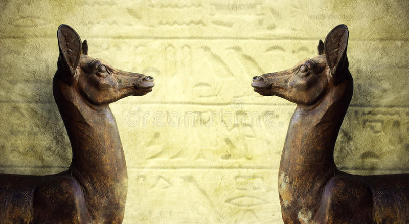Egyptian Sculptures stock photo