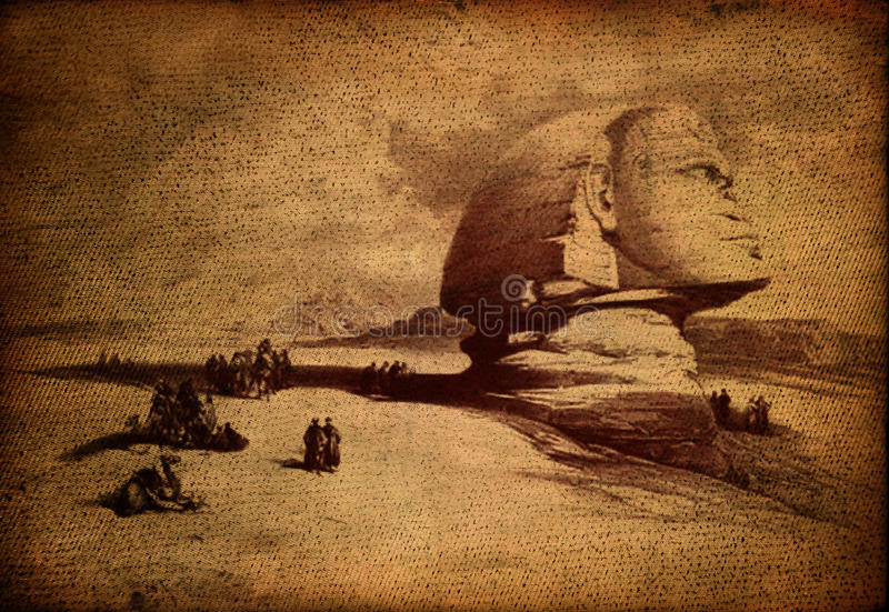 Download Egyptian sphinx stock photo. Image of vintage, egyptian - 13314614