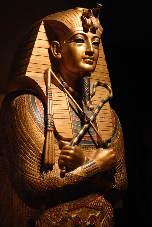 Download Egyptian statue stock photo. Image of ancient, gold, museum - 3748392