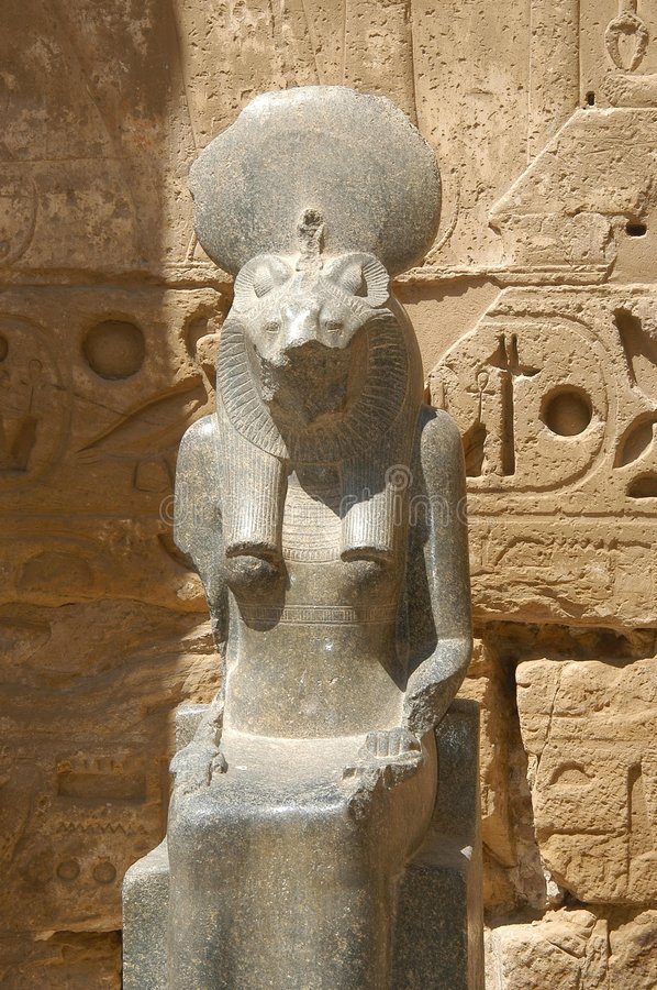 Egyptian statue royalty free stock photography