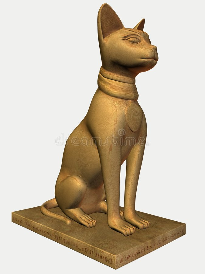 Egyptian Statue-Bast Stone vector illustration