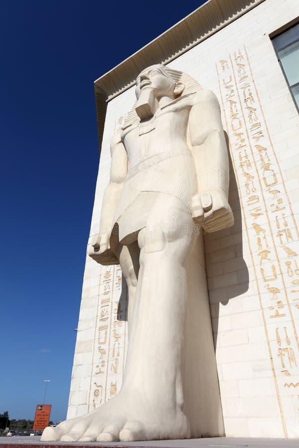 Egyptian statue at WAFI Mall, Dubai royalty free stock photo