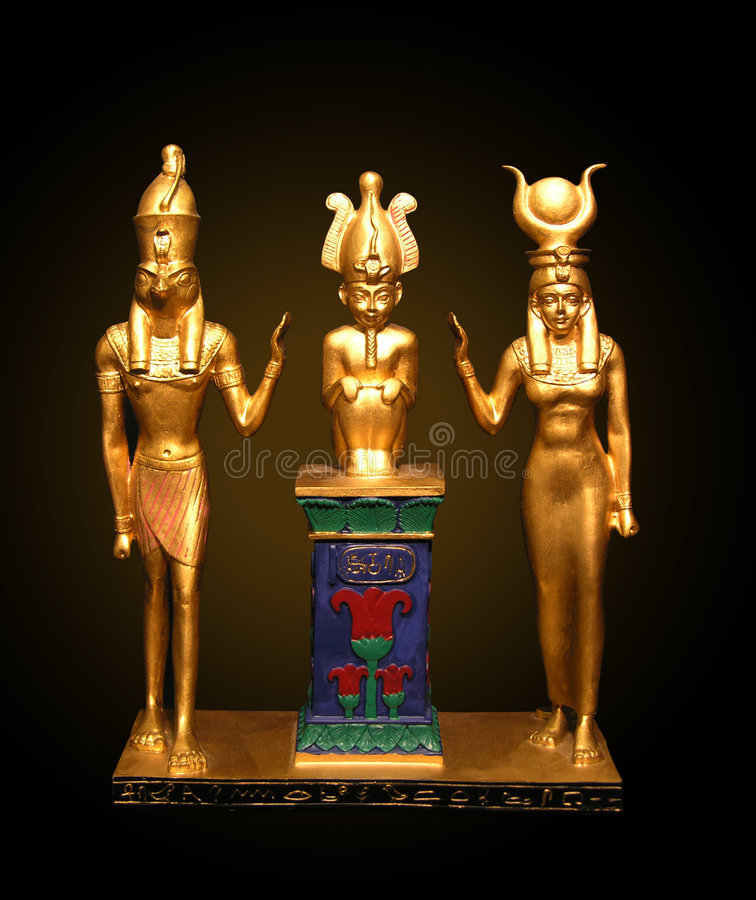Egyptian Statues royalty free stock image