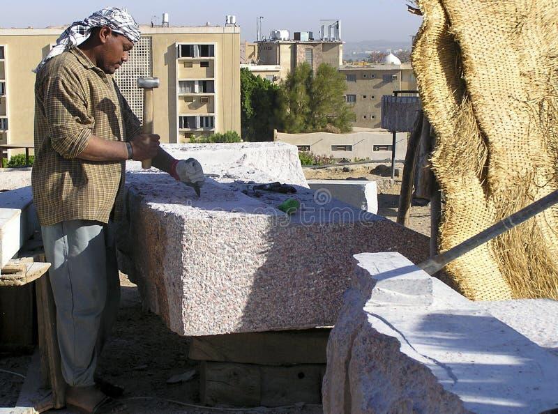 Egyptian stone-cutter stock photos